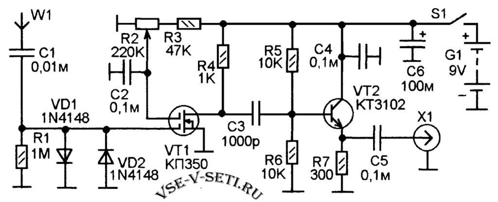 Активная антенна для кв-приемника