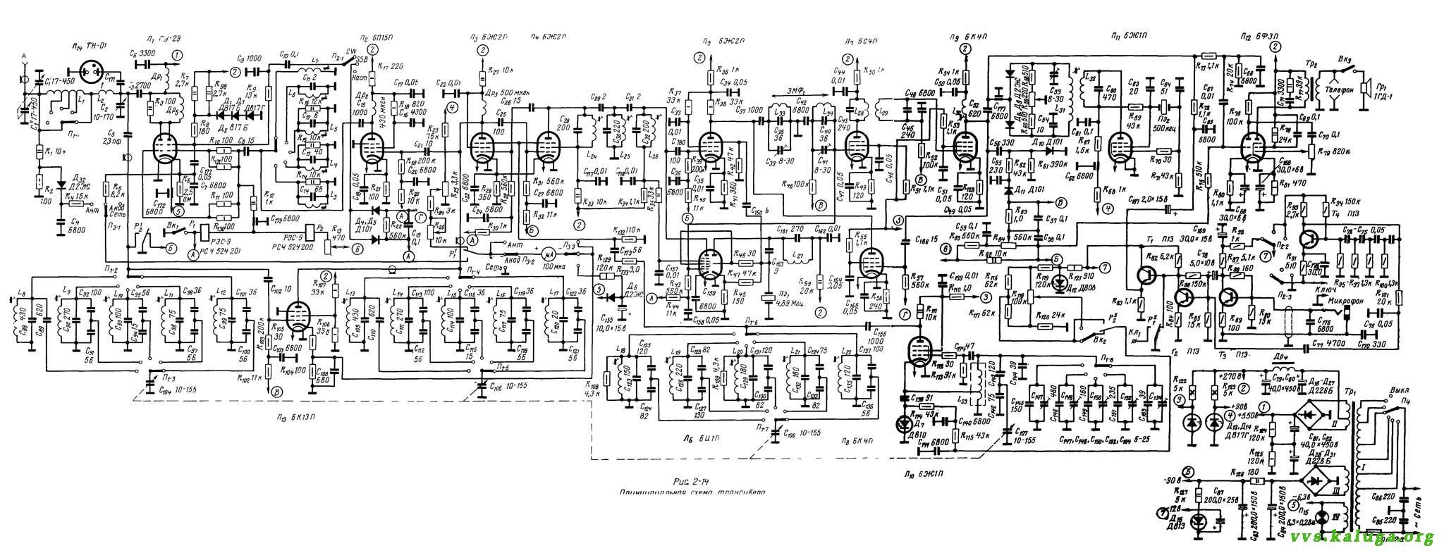 Принципиальная схема коротковолновый коротковолновый трансивер ДЛ69