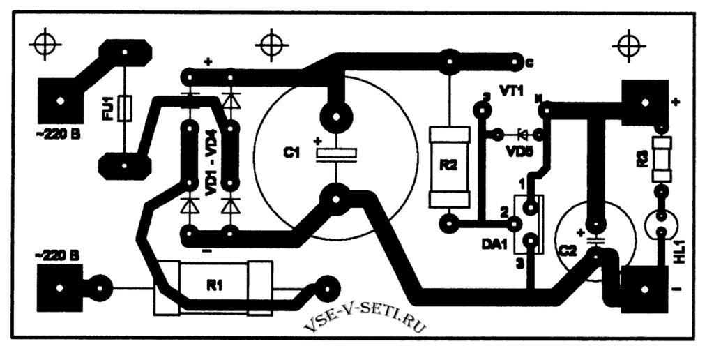 Высоковольтный стабилизатор постоянного напряжения