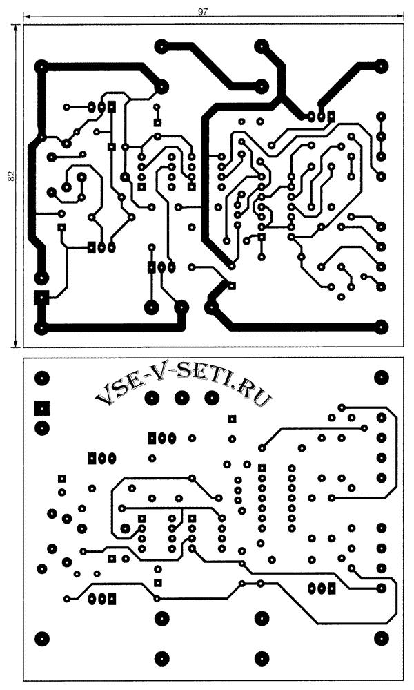 чертёж печатных проводников