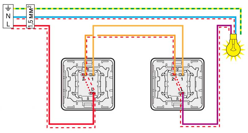 Нажата клавиша правого переключателя