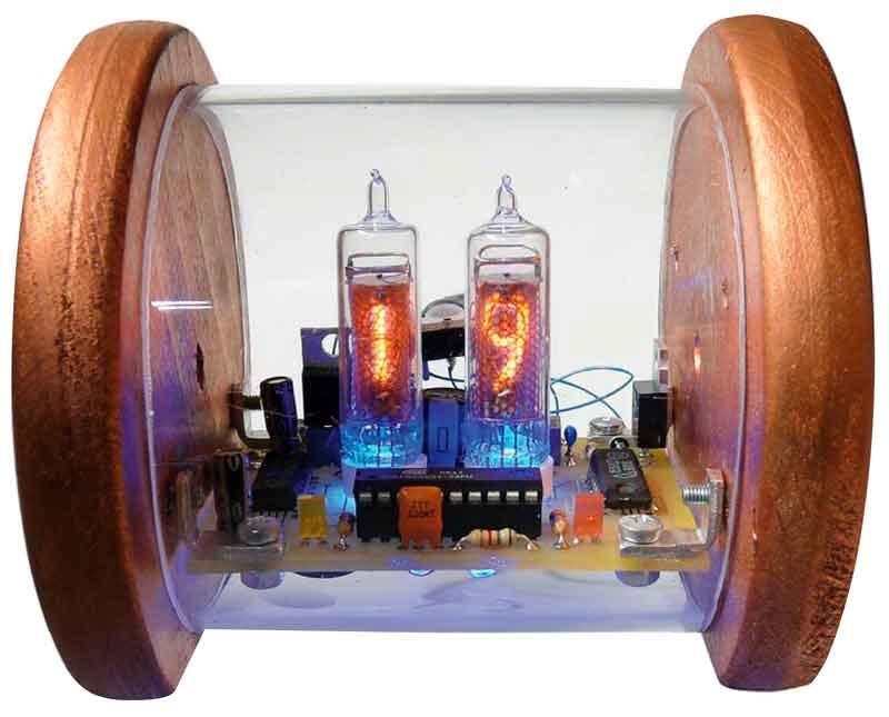 Цифровой термометр на лампах