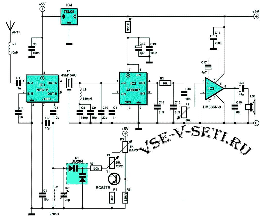 Приемник 0–18 МГц