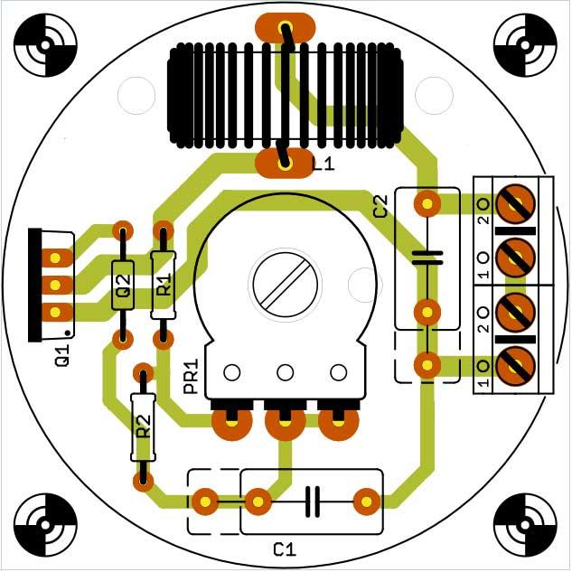 Печатная плата простой регулятор напряжения 220В
