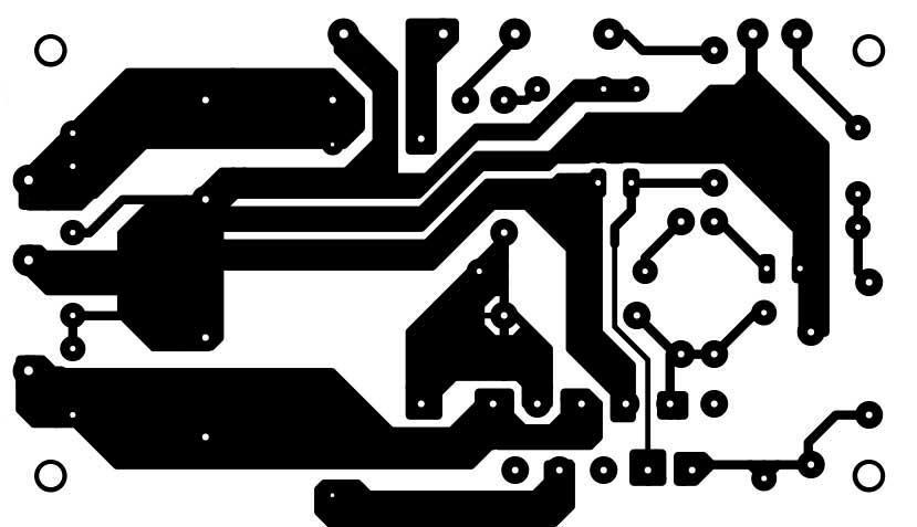 Разводка печатной платы усилитель 50 ватт на микросхеме