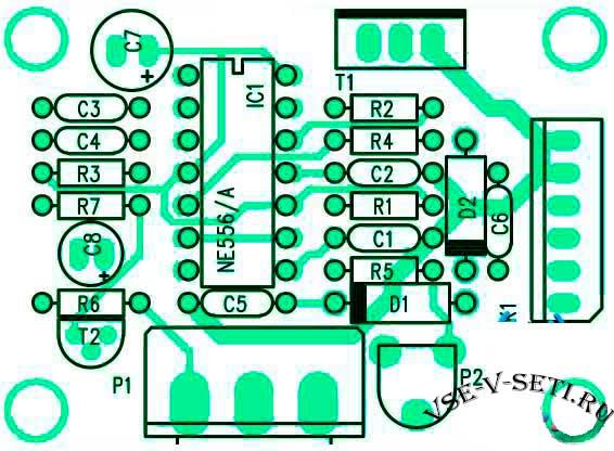 Расположение компонентов управления двигателями постоянного тока