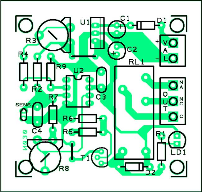 печатная плата термостат от -20 до + 35 С