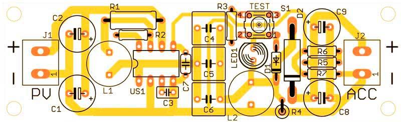 Печатная плата зарядное устройство от солнечных батарей