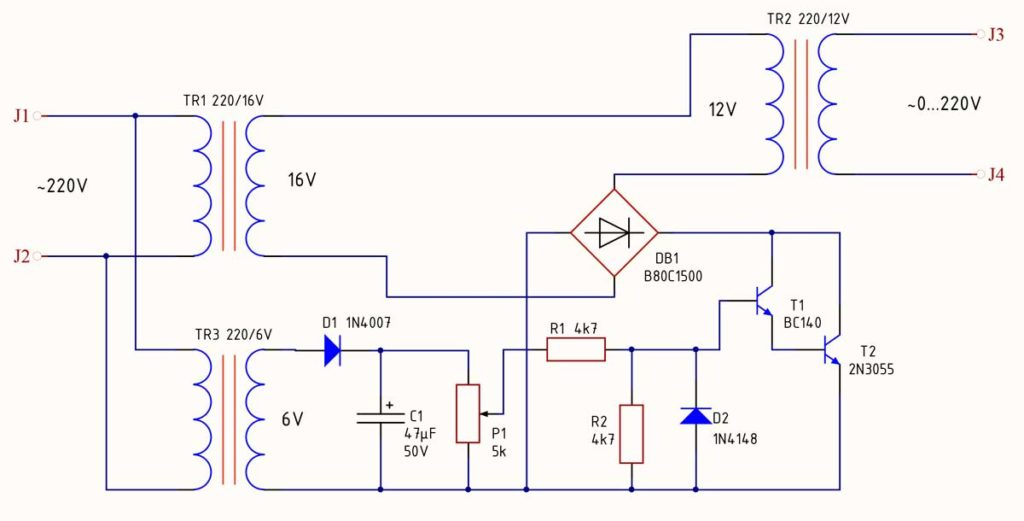 Электронный регулируемый трансформатор