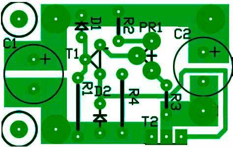 Вариант печатной платы стабилизатор LDO на дискретных компонентах